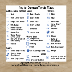 Symbols for DungeonMorph Cards & Dice