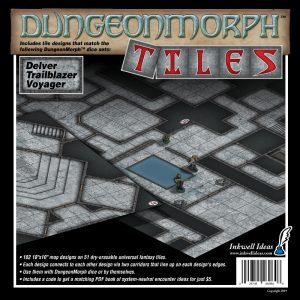 DungeonMorph Tiles based on the Delver, Trailblazer & Voyager sets