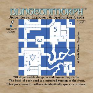 "DungeonMorph Adventurer, Explorer, Spellunker 2.5"" Cards"
